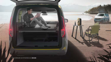 VW Caddy California - boot