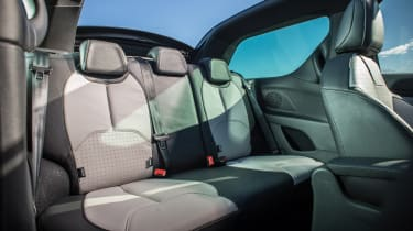 Citroen DS3 Cabrio rear seats