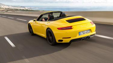 Porsche 911 Carrera S Cabriolet rear tracking