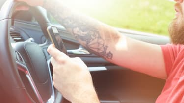 Driving without care - phone