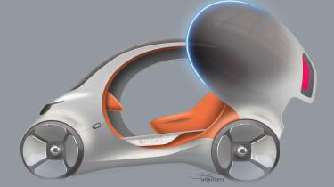 Smart Vision EQ ForFour concept - sketch side door open