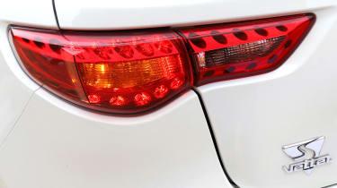 Infiniti FX Vettel rear light and badge detail