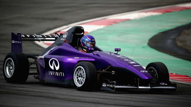 Infiniti Ultimate test drive racer side
