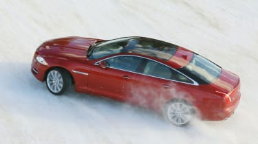 Jaguar XJ AWD on snow