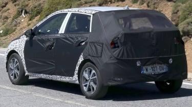 Hyundai i20 spied - rear 3/4 tracking