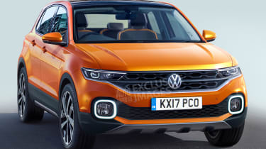 Volkswagen Polo SUV - front (watermarked)