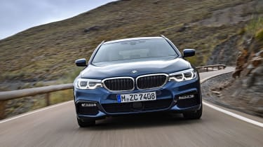 New BMW 5 Series Touring - full front action