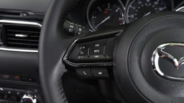 Mazda CX-5 vs Skoda Kodiaq vs VW Tiguan - Mazda CX-5 steering wheel