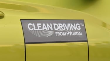 Hyundai Kona electric side badge