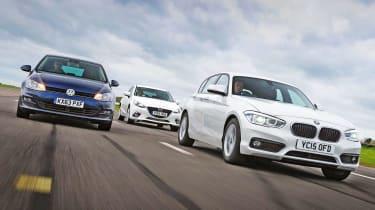 BMW 1 Series vs VW Golf vs Mazda 3