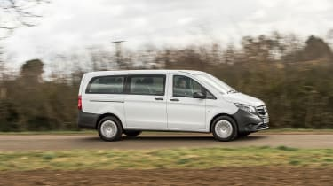 Mercedes Vito Tourer - panning on the road