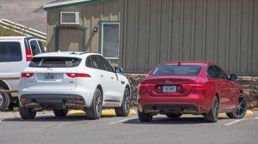 Jaguar XE mild hybrid spy shot F-Pace