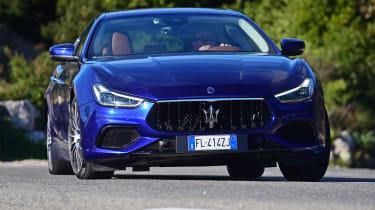 Maserati Ghibli facelift - front cornering