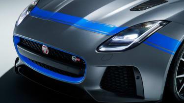Jaguar F-Type SVR bonnet stripe