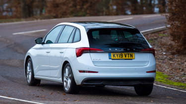 Skoda Scala Long termer - rear cornering