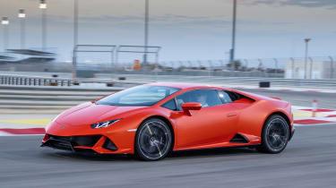 Lamborghini Huracan Evo - side track