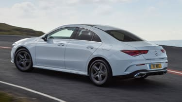 Mercedes CLA 250 AMG Line - rear cornering