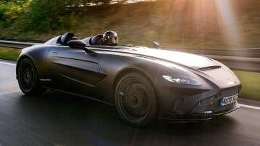 Aston Martin V12 Speedster - front action