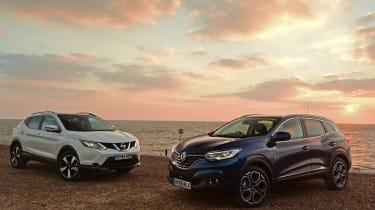 Nissan Qashqai vs Renault Kadjar landscape