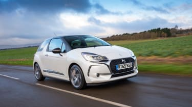 DS 3 hatchback 2016 review - front tracking 2