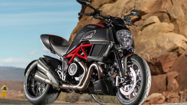 Ducati Diavel review - parked