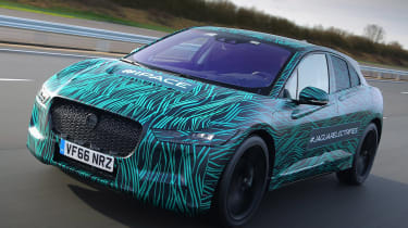 Jaguar I-Pace production camouflaged
