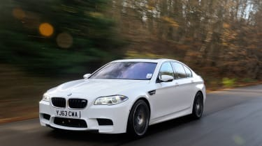 BMW M5 Competition Pack front tracking