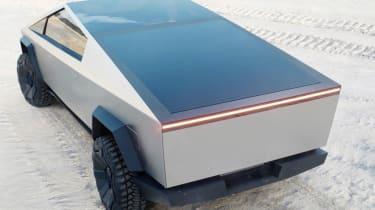 Tesla Cybertruck rear solar