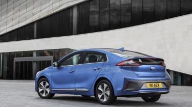Hyundai IONIQ EV 2016 UK - rear quarter