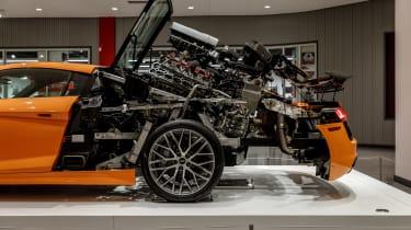 Petersen Automotive Museum - Audi R8 exploded side closeup