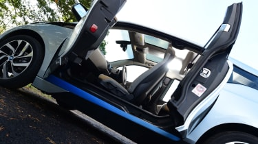 Long-term test review: BMW i3 REx doors open