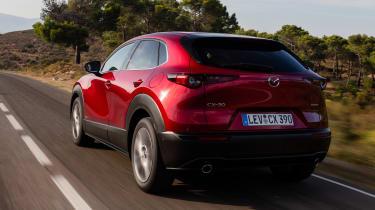 Mazda CX-30 SkyActiv-X - rear tracking