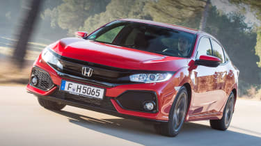 Honda Civic 2017 red - front tracking