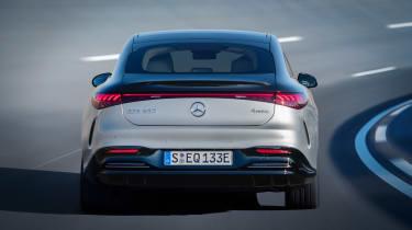 Mercedes EQS - rear cornering