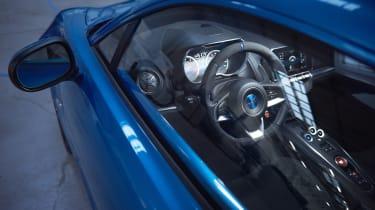 Alpine A110 sports car 2017 - studio interior look-in