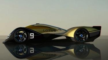 Lotus E-R9 - side
