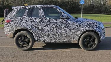 Land Rover Defender test mule side