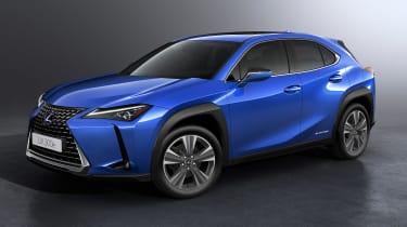 Lexus UX 300e - front/side studio