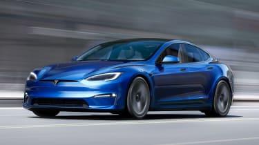 Tesla Model S facelift - front action