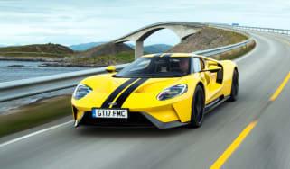 Ford GT Norway road trip - front quarter