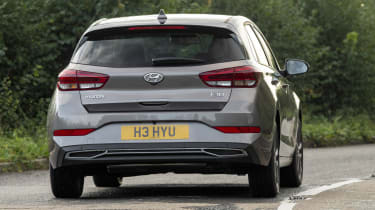 New Hyundai i30 driving - rear view