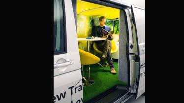 VW T6 Transporter mobile office side door