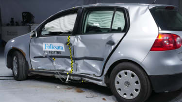 VW Golf crash test