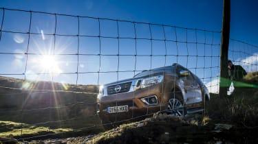 Nissan Navara first UK drive - front below