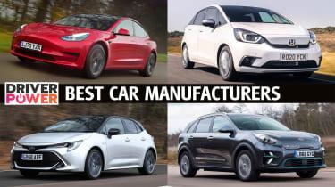 Best car manufacturers - Driver Power 2021 header
