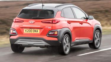 Hyundai Kona review - rear quarter action road