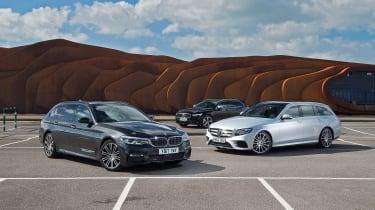 BMW 5 Series Touring vs Volvo V90 vs Mercedes E-Class Estate - header