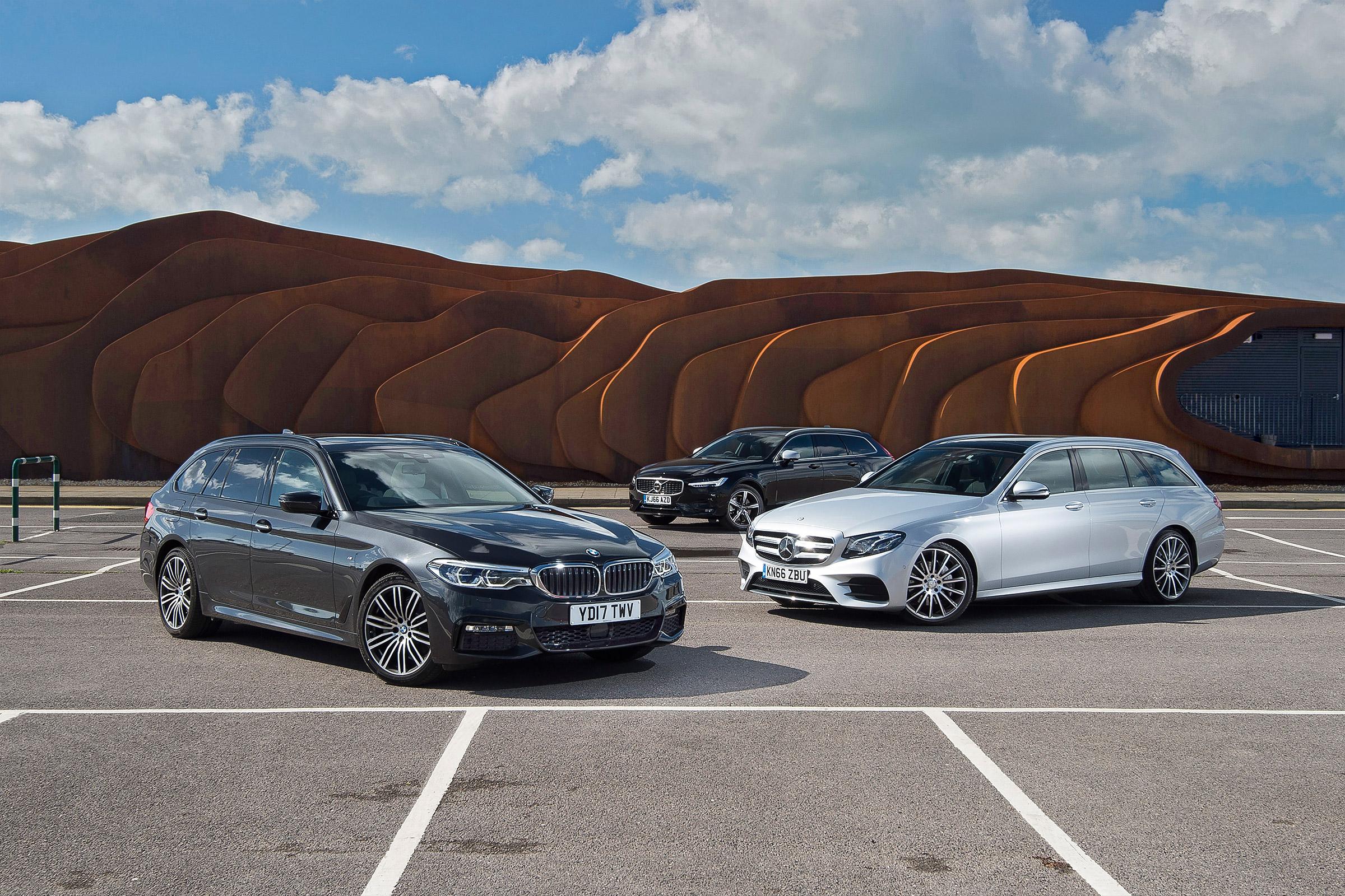 Bmw 5 Series Touring Vs Mercedes E Class Estate Vs Volvo V90 Auto Express