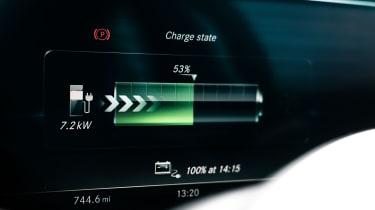 Mercedes E 300 de- information screen