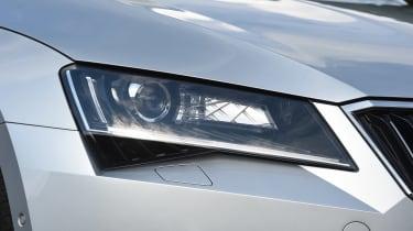 Skoda Superb Estate - front light detail